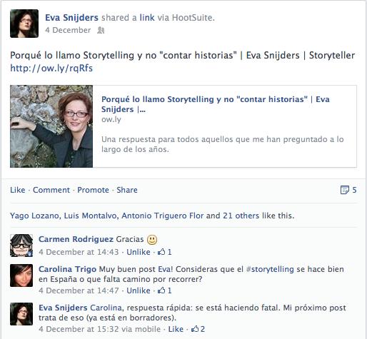 Feedback en Facebook